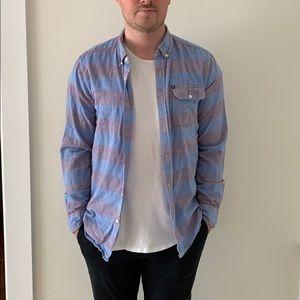 QUICKSILVER Striped Button Down Shirt